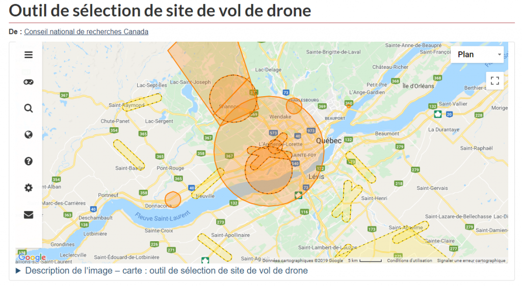 Capture drone site selection